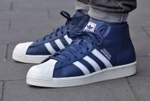 Sneakers: adidas Pro Model / The dna may be the same, but don't be fooled this is not a high top version of the Superstar. Released a year later (1970) the Pro Model also utilizes a shell toe just like the Superstar.