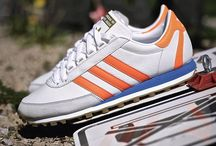 Sneakers: adidas Nite Jogger / The first adidas Nite Jogger, released in 1979 was designed to provide runners with a shoe that offered increased visibility in the dark so they could be safer at dusk and dawn.  adidas did this by using reflective material on the 3 stripes and at the back.  In addition to the reflectors the shoe also aided runners by being lightweight and offered a studded sole for extra support and grip.