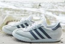 Sneakers: adidas Beckenbauer / The adidas Beckenbauer Allround was first released in 1982 as the signature shoe of German soccer legend Franz Beckenbauer aka 'the Kaiser'. At the time, Franz Beckenbauer played alongside Pele at the New York Cosmos, where they won the championship three times.