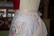 Aprons / Aprons, vintage, new, up-used and some made by Lady Dragonfly Studio / by Marlene Seniuk-Mayne