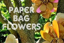 Paper creations  / We love re-purposing/ recycling all things paper