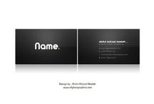 namecard / name card black