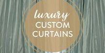 Custom Curtains / Luxury custom curtains all made in the USA.  Silk dupioni drapes, linen curtains, faux silk drapes, velvet drapes, and sheer curtains www.dreacustomdesigns.com/custom-curtains