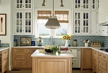 KITCHEN IDEAS / Designs for the heart of the home. I love my current all white kitchen, but I'm always looking for wonderful ideas to make it more functional or more attractive. / by Linda Hibner