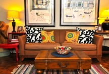 """LIVING ROOMS / An eclectic collection of living rooms where the emphasis is on """"living."""" Wonderful motivation! / by Linda Hibner"""