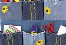 Denim Do-overs... / This and That made with re-purposed denim / by Linda Aarhus