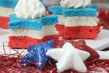 Patriotic Ideas / She's a patriot! Ideas and recipes to celebrate Independence Day and anything red, white and blue all year long!