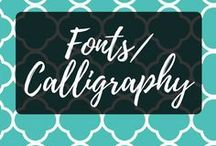 Font Obsession/Calligraphy / Fonts and Calligraphy are ways to express our personalities while journaling or blogging. They're quite important.