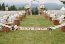 PCF Weddings - Signage / http://www.pcfweddings.com / by Port Charlotte Florist