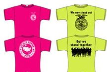 FFA Chapter Tee Contest / The FFA Chapter Tee Contest allows chapters to submit t-shirt designs that if selected, would be sold through Shop FFA. The entries are narrowed down to 12 designs that are then voted on by YOU! Six designs will win, earning them 50% of the t-shirt profits from the first year of sales.