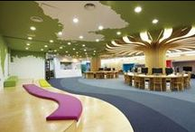 Library Design / Library furniture, carpeting, and other design features