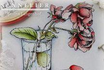 Coloured by Jenine - Sennelier - l'Aquarelle
