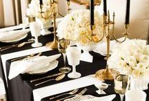 Black & Gold Party Ideas / by Grace McConnell
