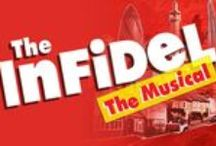 The Infidel - The Musical / Based on David Baddiel's smash hit movie of the same name, this hilarious and heart-warming tale is the ultimate identity crisis comedy.  East End Muslim Mahmoud Nassir is an ordinary family man whose life is turned upside down when he discovers that not only is he adopted, but that his birth parents are Jewish. The resulting cultural and religious chaos leads to an uproarious and insightful comedy about race, prejudice, confusion and what it really means to be yourself. / by Theatre Royal Stratford East