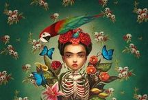 Frida / ... illustrations of Frida Kahlo ...