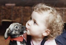 Kids & their dogs - so cute! / Only the cutest photographs of dogs and puppies. / by Karen at peace...
