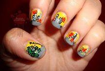 Godzilla-Inspired Nail Art