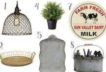 Finds for the Farmhouse / Finds for the farmhouse! The best farmhouse style decor, furniture, paint colors & more.