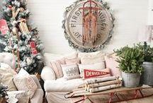 FARMHOUSE CHRISTMAS / Farmhouse style Christmas decor.