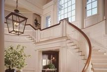 *Take the Stairs* / Gorgeous stairs, railings and runners from top to bottom. / by *Melissa Miller*