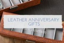 3rd Wedding Anniversary Gift Ideas / Lots of 3rd anniversary gift ideas for your husband and wife or your girlfriend or boyfriend. Traditionally your 3rd is celebrated with leather gifts which is great for gifts for him and her. Plus on the modern list you celebrate with crystal. Lots to choose from here.