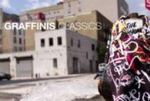 GRAFFINIS CLASSICS / Graffinis Swimwear Classics featuring prints throughout the years. Brazilian bikinis, halter top bikinis and one piece swimsuits.