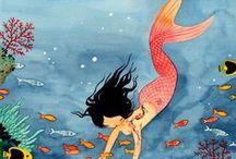 Art - Mermaids, Unicorns, Fantasy / by Kristi