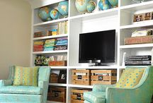 Media/family room / Media Room and family rooms, comfortable and eclectic