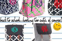 It's BACK TO SCHOOL! / Getting ready for back to school  with monogrammed apparel and accessories!