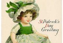 Postales victorianas del día de San Patricio. St. Patrick's Day Cards. / Postales victorianas de San Patricio