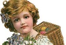 Postales de Pascua Victorianas. Victorian Easter Day Cards. / Postales de Pascua Victorianas