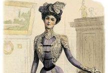 Moda Victoriana y Eduardiana. Victorian and Edwardian Fashion Plates / Láminas de moda victoriana y eduardiana