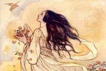 Victorian Fairy Tales Illustrations. Ilustraciones de cuentos de hadas victorianos. / Fairy Tales Illustration. Ilustraciones de cuentos de hadas