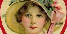 Tarjetas victorianas de San Valentín. Victorian Valentine Cards / Tarjetas victorianas de San Valentín. Victorian Valentine Cards