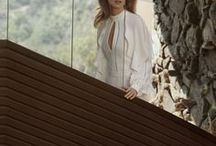 BCBGMAXAZRIA SPRING 2018 CAMPAIGN / Our Spring 2018 campaign, shot by Olivia Malone, celebrates the quiet power of the feminine – the soft hues and signature angular cuts of our latest collection stand out against the bold, curvilinear interiors of John Lautner's Garcia House.