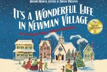 """It's a Wonderful Life in Newman Village"" / Newman Village invites Dallas families to experience a night filled with holiday wonderment and cheer with carolers, ice skating, horse-drawn carriage rides, a snow hill slide, Bedford Falls Express train rides, Christmas lights, and appearances by Santa and Mrs. Claus on Thursday, Nov. 20, from 6-9 p.m."