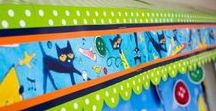 Pete the Cat Classroom Theme / Pete the Cat classroom materials! Bulletin board kits, decoratives, manipulatives, and more