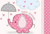 Pink Umbrellaphants Baby Shower / Here's some girl baby shower supplies to help with that precious moment in a soon-to-be mom's life. These very cute, pink elephant party supplies feature everything from tableware & favors to decorations, invitations, and more.