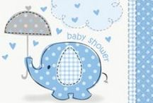 Blue Umbrellaphants Baby Shower / Need a cute, blue theme for your boy baby shower? Blue Umbrellaphants is the perfect theme! These adorable elephant party supplies include tableware, decorations, favors, and more to help you plan your boy baby shower.