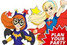 DC Superhero Girls Party Ideas / Bring some Girl Power! to your party with some DC Superhero Girls party ideas. Need party supplies? There's a super-fun design to help your party take flight. How about superhero girl cakes, games, or other party activities? We'll share them here with you.