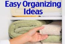 Thrifty Organization / Ideas for organizing that won't break the bank!
