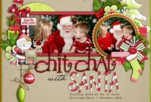 my fave pages ~ christmas/winter / christmas scrapbook page ideas / by Melissa Armstrong
