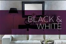Black & White / Nothing is classier than black and white decor. If you're looking for sophistication and a bold look, check out our board for amazing decor ideas.