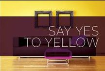 Say Yes to Yellow / The color yellow stands for optimism, cheerfulness, high energy and positive vibes, so why wouldn't you want it in your home? Say yes to yellow ad find inspiration here.