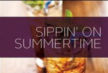Sippin' on Summertime / Summertime recipes perfect for pool parties or just as a refreshing beverage when you get home from work. We have also found some great summer snacks that are delicious and refreshing, too.