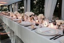 Gala dinner in total White -CENA DI GALA IN BIANCO / Una cena di gala elegante e sobria tra veli sottili, fiori bianchi, candele e un bosco magico. In villa Rocchetta a Ispra, sulle dove del lago maggiore. Italian style.  A gala dinner, with a long table, decorated with White flowers, a lot of candles and sorrounded of a magic wood. On the Lake maggiore, in Italy  Www.fiordifragolastyle.com Seguici su Facebook-instagram-pinterest