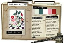 CSI Case Files (Scrapbooking Challenges) / Case Files are our challenges. Basically, you create a layout using all of the colors in the Scheme, choose at least 3 Evidence clues, and choose 1 Testimony clue.
