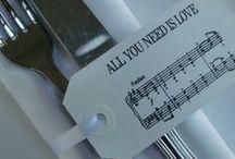 Mariage thème musique / Voici un thème mariage pour les amoureux de la musique!