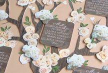 Plan de tables - numéros de tables mariages / Retrouvez des jolies idées pour vos plans de tables et numéros de tables !