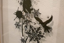 Shinobu OHASHI / She is cutout picture artist. Her exhibition was launched on 13 November 2012 until 18 November 2012.